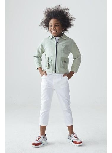 Nebbati Erkek Çocuk Yeşil Ceket Yeşil